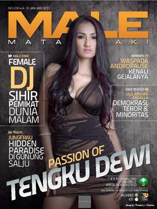 Malajalah Mata Lelaki Edisi Tengku Dewi, Majalah MALE edisi Tengku Dewi