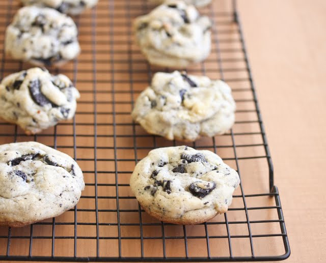 photo of cookies on a baking rack