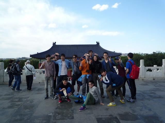 Foto de grupo en el Templo del Cielo, Pekín