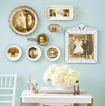 Soportes diferentes para decorar con fotografías.