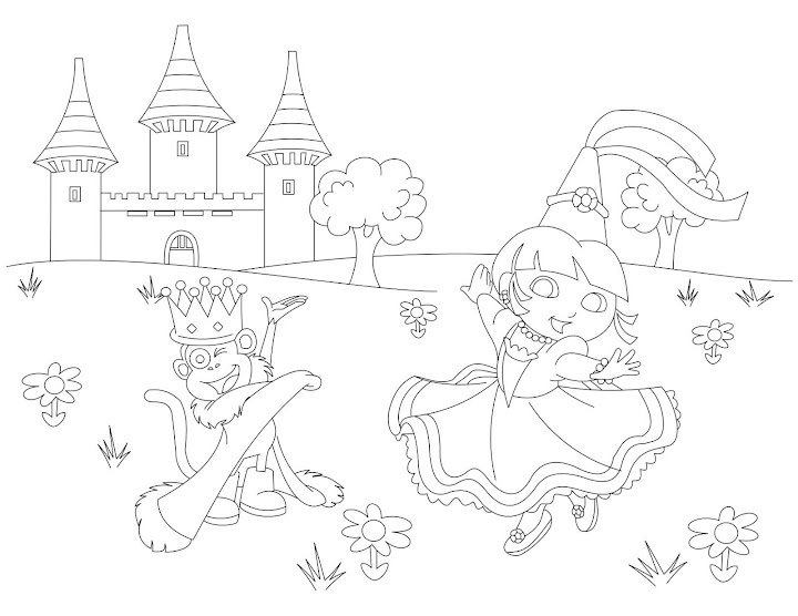Free Coloring Pages Princess The Explorer Coloring Pages
