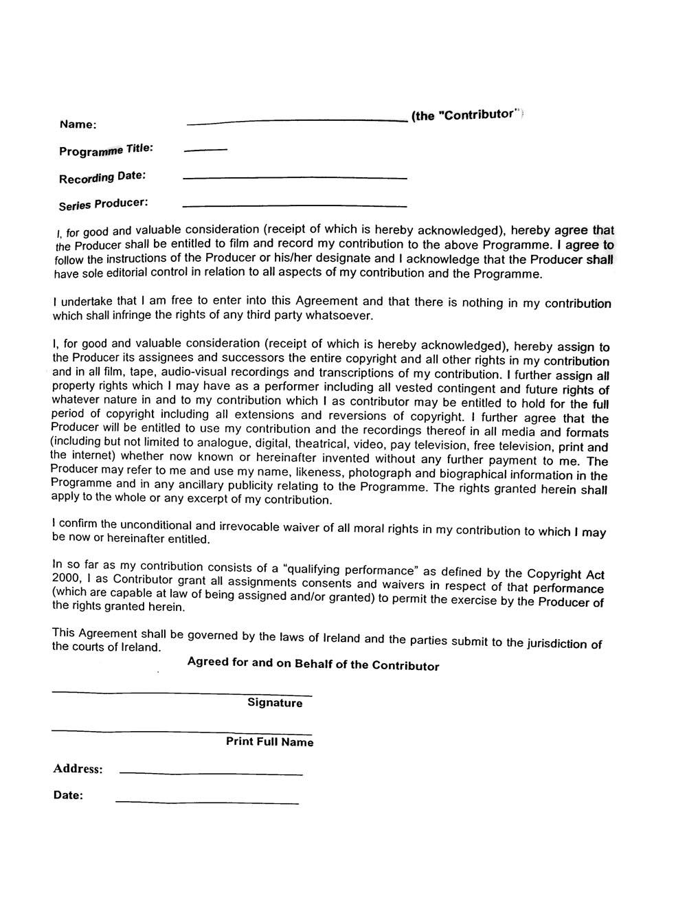 Photo And Video Release Form Vatozozdevelopment