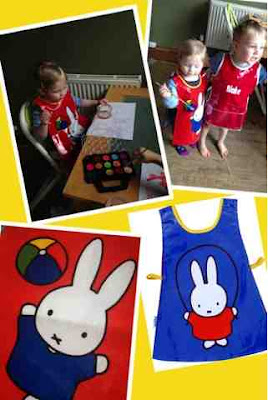 blake and meg clement in Miffy tabard