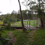 crossing a small wooden bridge (90426)
