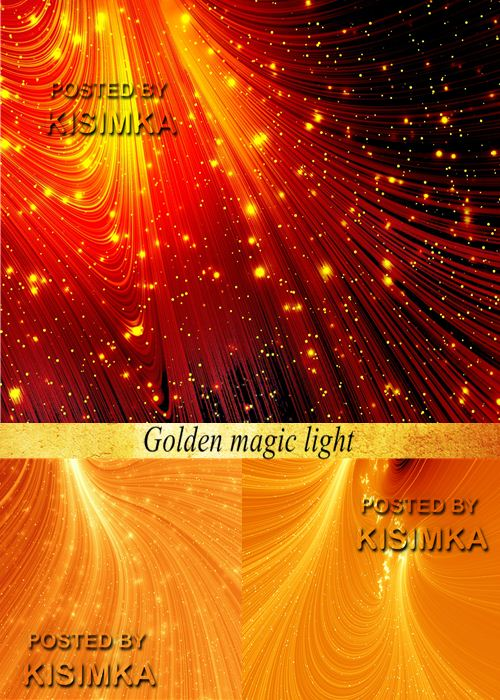 Stock Photo: Golden magic light