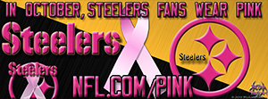 Pittsburgh Steelers Breast Cancer Awareness Pink Facebook Cover Photo