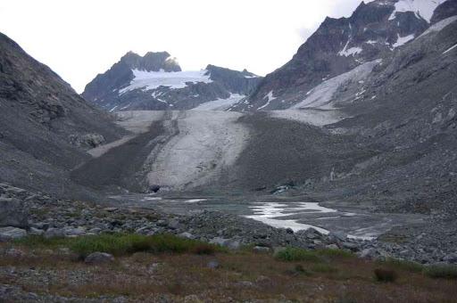 L'« inoubliable » glacier d'Otemma (et dans l'axe le petit mont Collon)