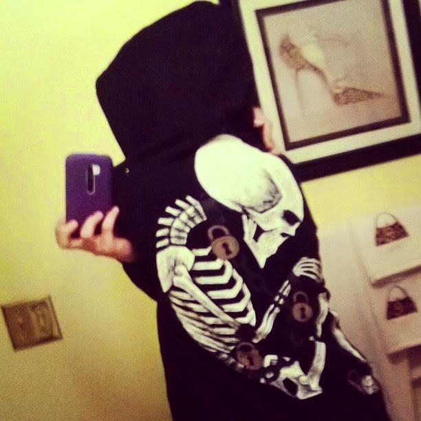 instagram, selfie, skeleton chains tshirt, akumu ink, akumuink, skeleton fetus shirt, skeleton chains locks, akumuink, nightmare style, japanese goth, pastel goth clothes, emo goth clothes, vampire clothes