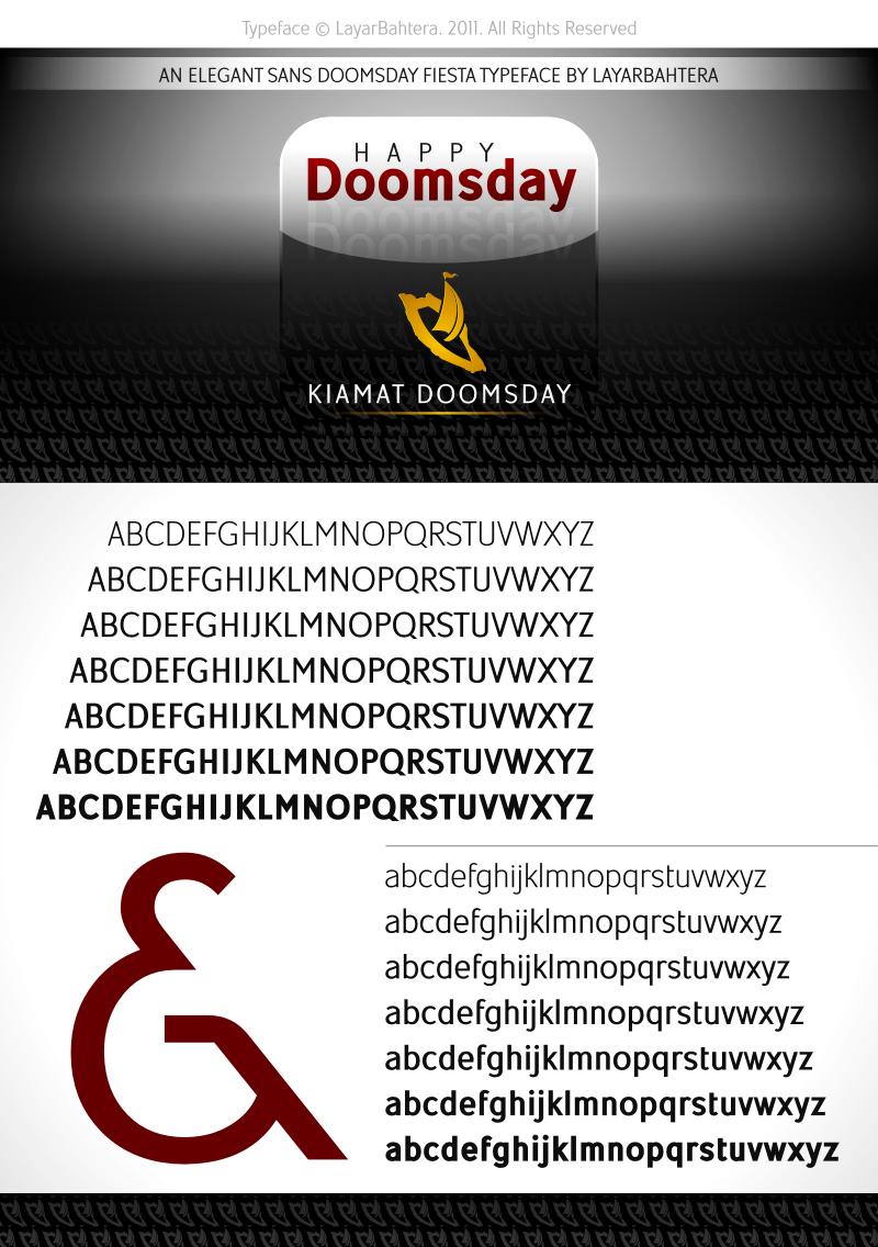 kiamat doomsday font
