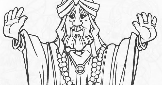 Dibujos Católicos : Rey Salomón Para Colorear
