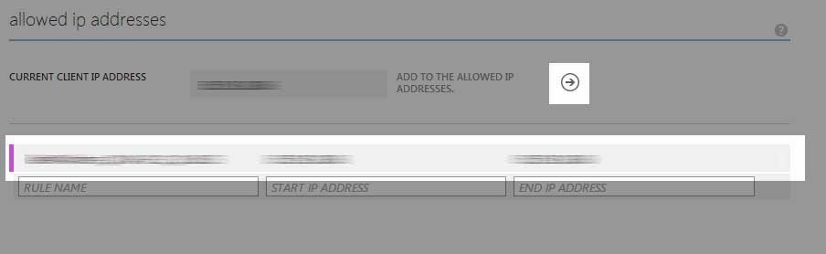 Manage Allowed IPs Added Current IP