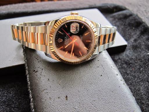 Bán đồng hồ rolex datejust Turn-O-Graph – Model 116261 – Đè mi vàng hồng 18k – size 36mm