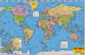 World map poster order online ias upsc exam portal indias world map gumiabroncs Choice Image
