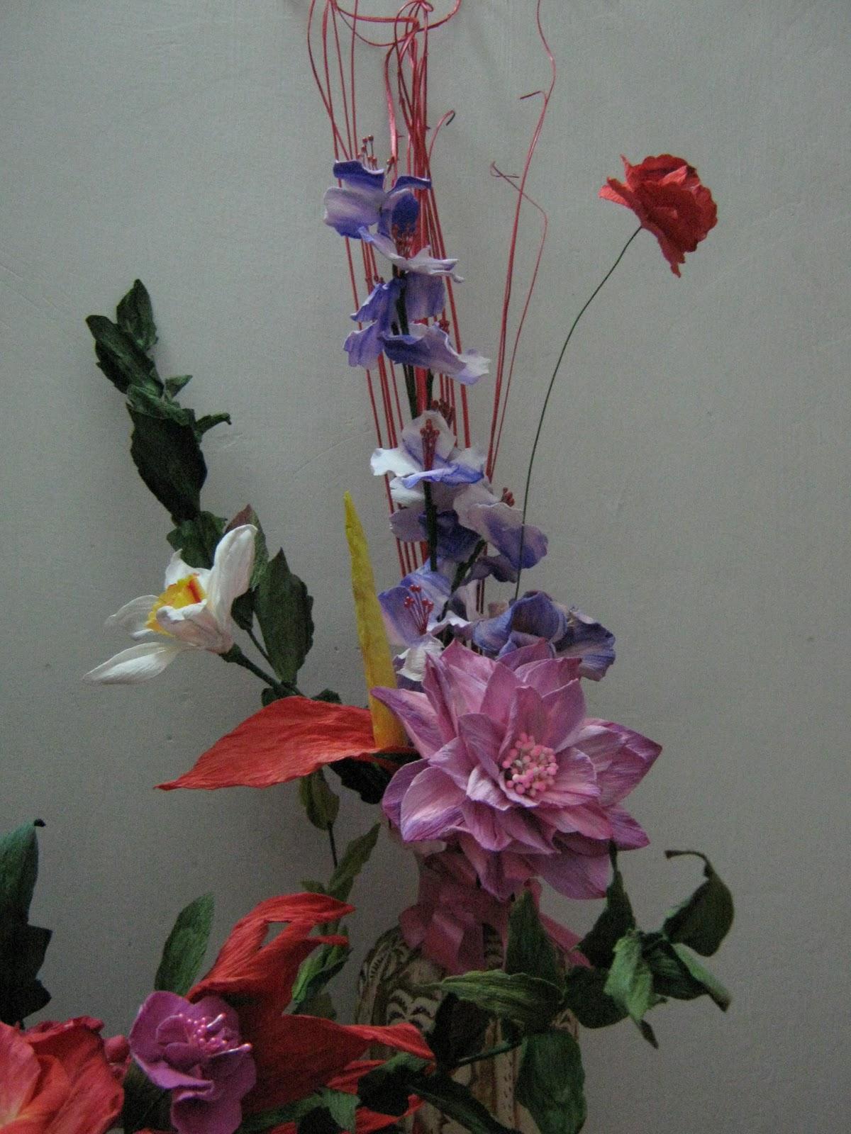 Duplex paper flower making videos flowers healthy vandana s creation duplex paper origata flower bouquet mightylinksfo