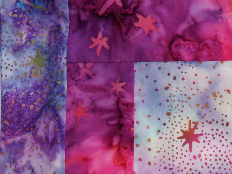 batik fabric quilt detail