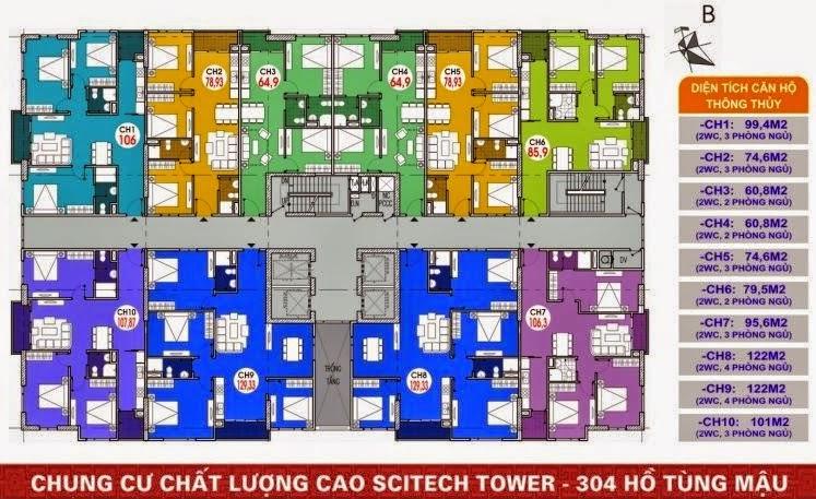 thiết kế chung cư 304 hồ tùng mậu
