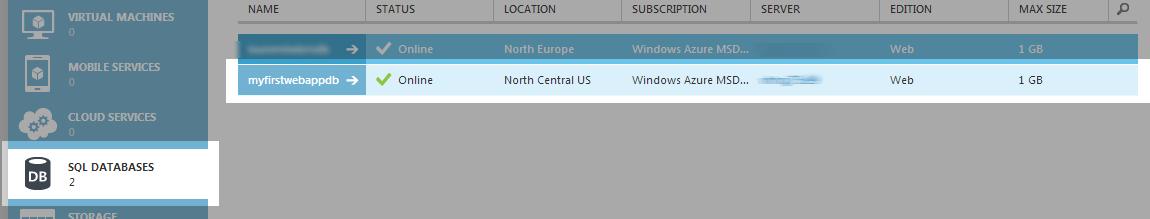 Select Azure Database