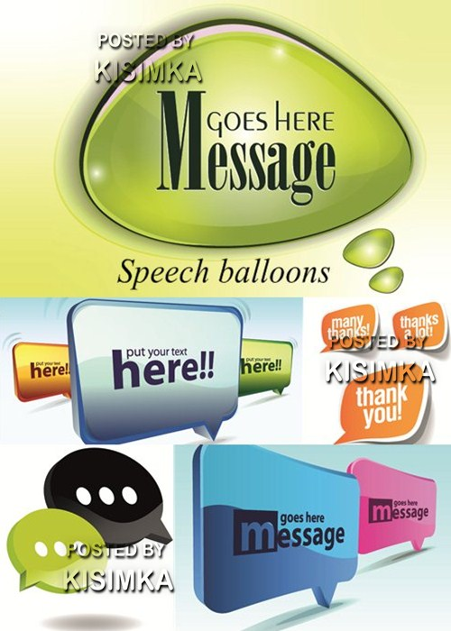 Stock: Speech balloons 2