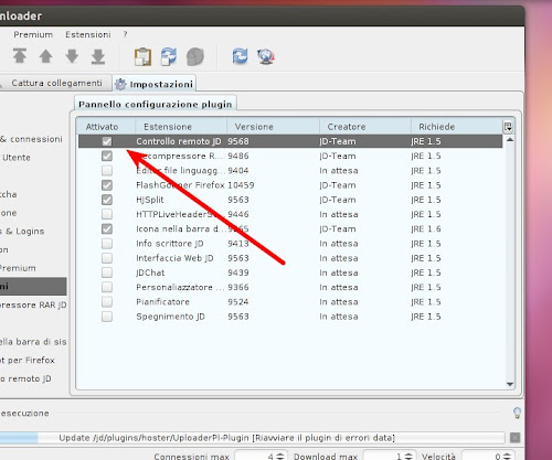 JDownloader su Ubuntu 12.04 Precise