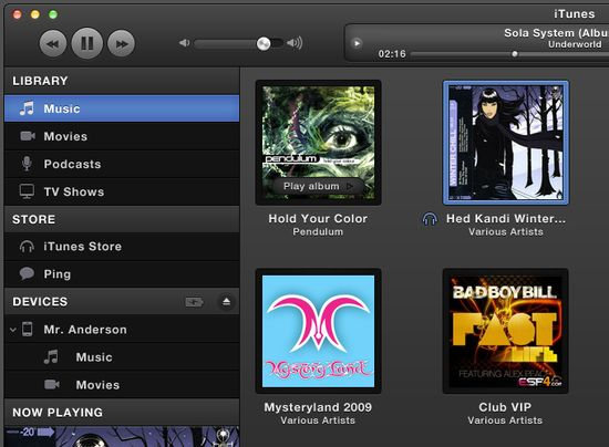 Dark Grey iTunes UI 20 useful UI elements PSDs