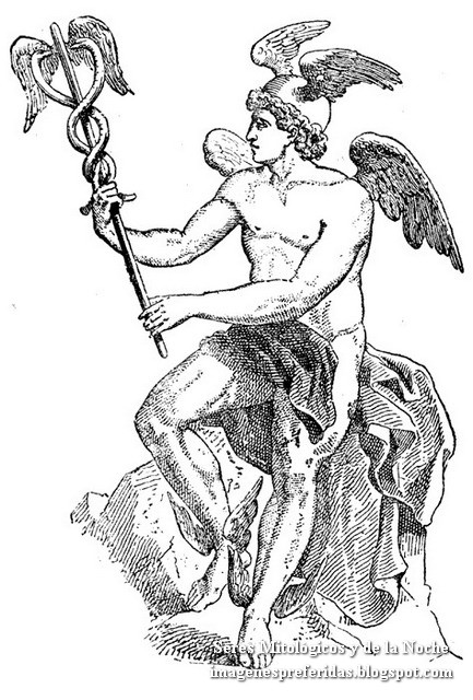Hermes es el hijo de Zeus y la pléyade Maya. Mensajero de los Dioses. También era el dios de los pastores, los mercaderes, los pesos y medidas, la oratoria, la literatura, el atletismo y los ladrones - Mitologia Griega - Dioses Griegos - El Mundo de la Fantasia - Seres Mitologicos y de la Noche - imagenespreferidas.blogspot.com