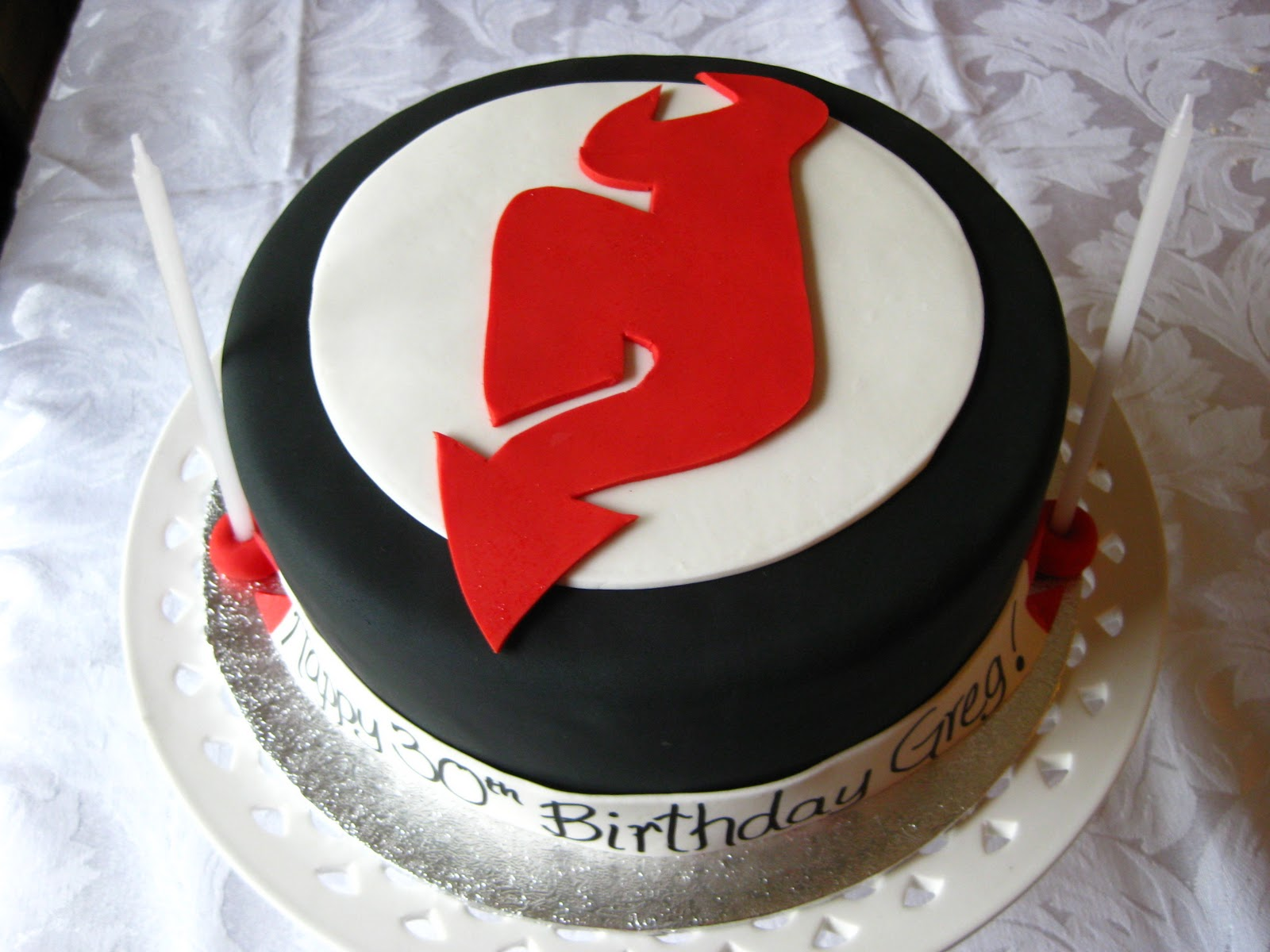 New Jersey Devils Cake