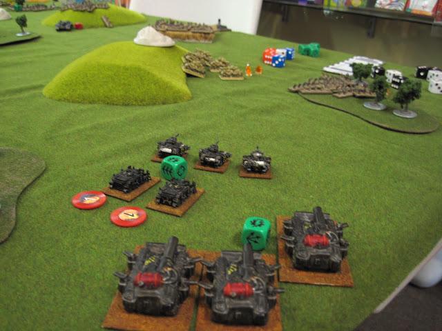 Obliterators move up the right flank.