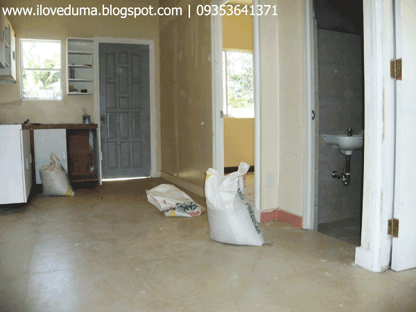 Del Rosario - View of the room, bathroom and toilet and the kitchen area - Dumaguete house and lot for sale