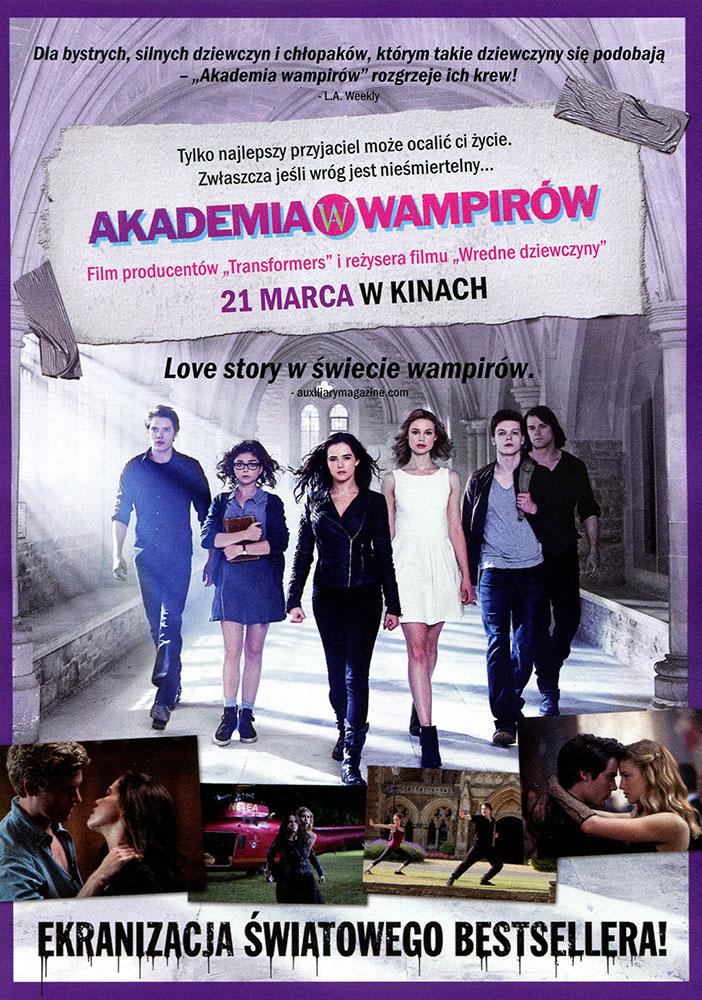 Ulotka filmu 'Akademia Wampirów (tył)'