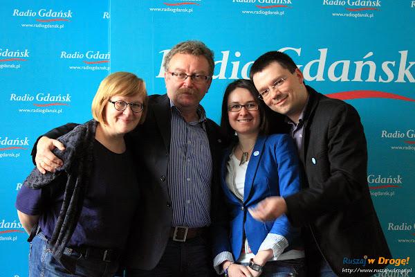 Kasia i Maciej z Ruszaj w Drogę, Stanisław Sikora i Beata Szewczyk w Radio Gdańsk