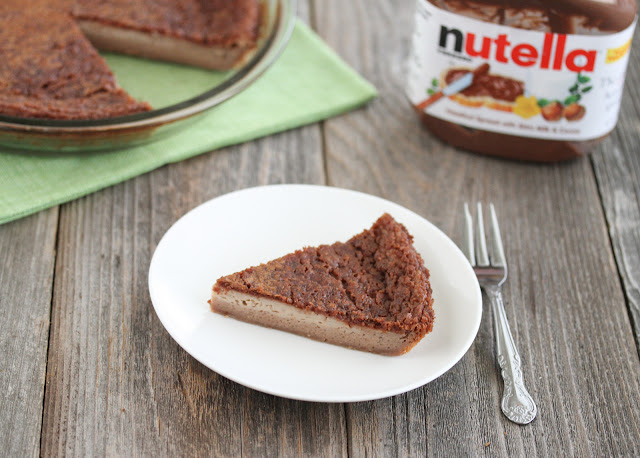 photo of Nutella Custard Magic Pie
