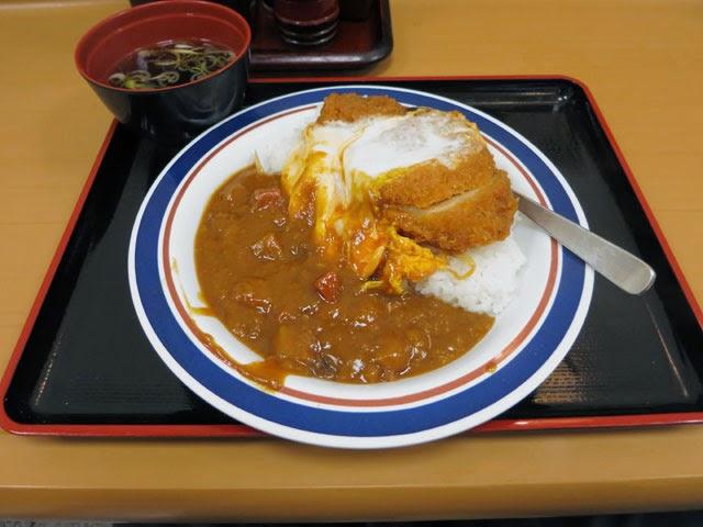 カレーカツ丼@スープ付き