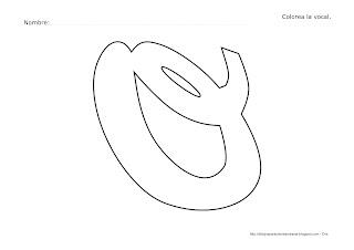 Dibujo de la vocal O para colorear y pintar