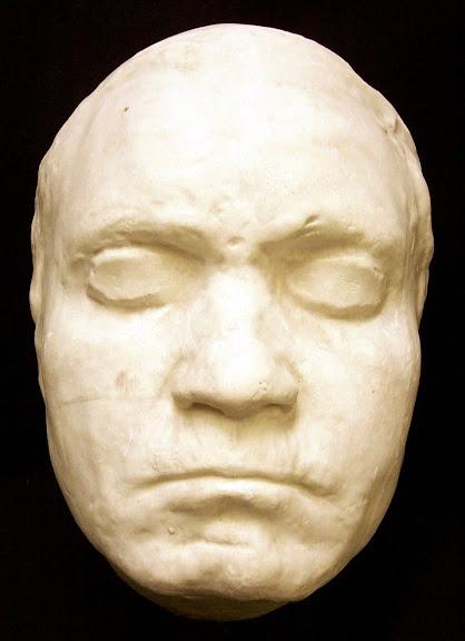 Máscara de Beethoven, feita ainda em vida. (Foto: Princeton University Library)
