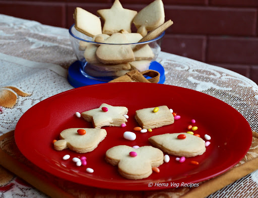Eggless Shortbread Cookies