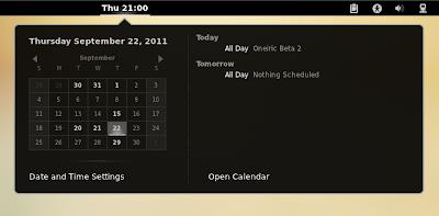 GNOME Shell Google Calendar