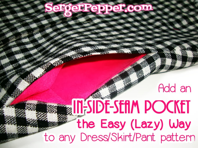 Serger Pepper Add an In-Side-Seam the easy way to any existing pattern