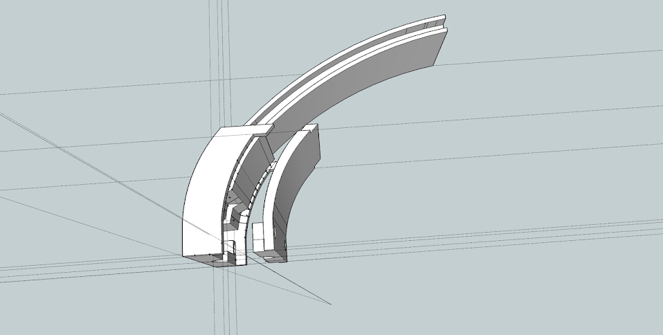 SketchUp design of the replacement part