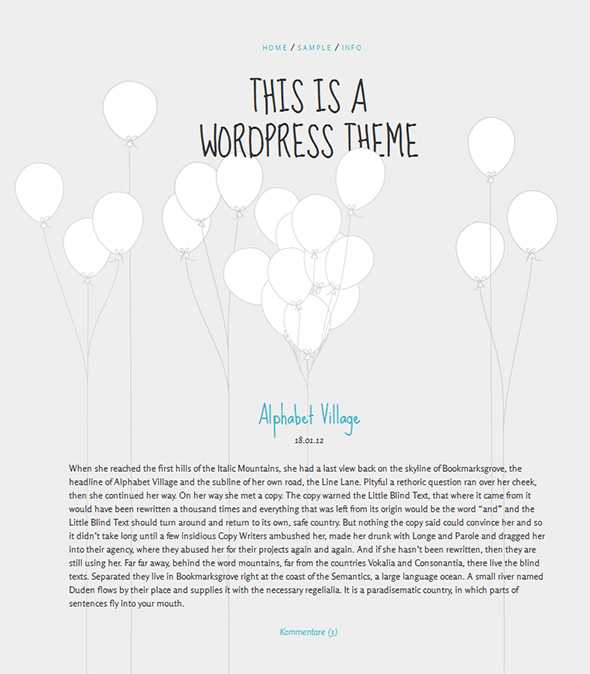Balloons Free WordPress Theme