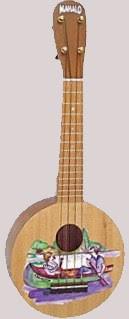 Mahalo art series 1 canoe round Soprano at Lardy's Ukulele Database