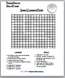 Learning Ideas Grades K 8 Sound Crossword Puzzle