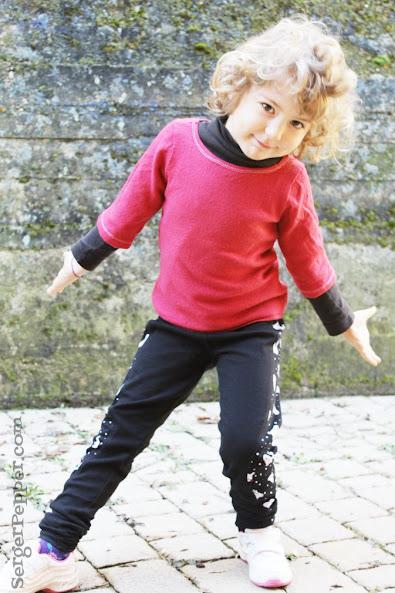 Serger Pepper How to create Color block Basic Leggings Victoria's Secrets inspired