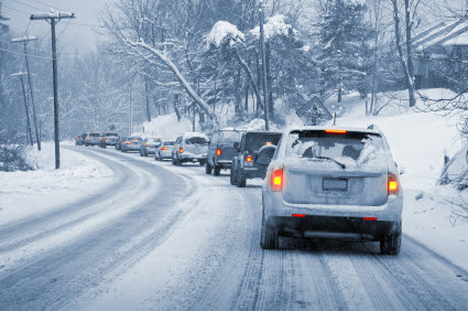 SUVs Driving In The Snow