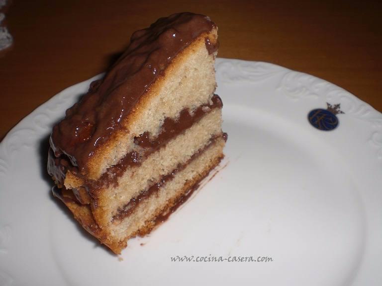 Receta bizcocho relleno chocolate