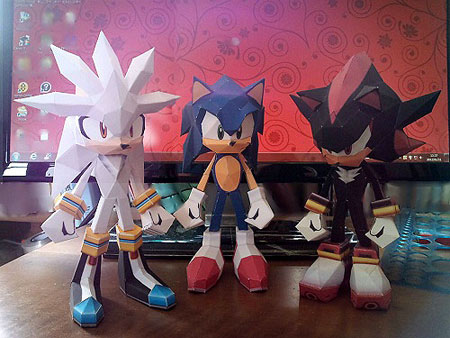 Silver the Hedgehog Papercraft