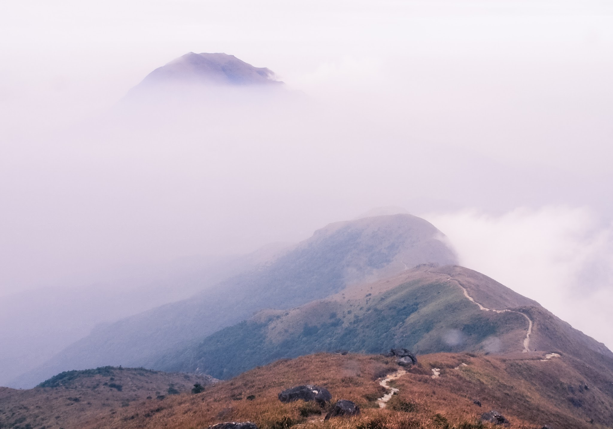 Lantau Peak on a cloudy day
