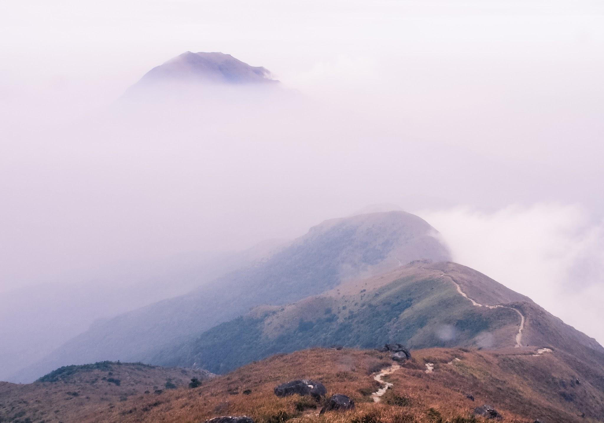 Lantau Peak on a cloudy day