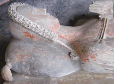 Detail of Maud de Grey Effigy, 1394