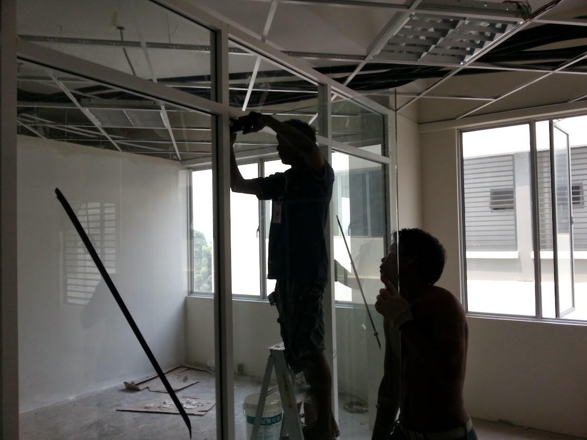 install glass door