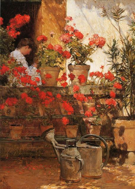 Childe Hassam - Geraniums
